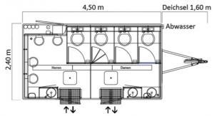 Toilettenwagen Skizze 1